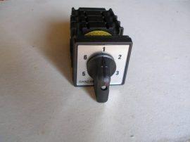 KK0-20-6037 átkapcsoló 1-2-3-4-5-6 állású 20A 6p installációs szekrénybe építhető kivitel
