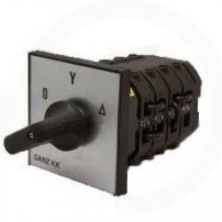 KK2-63-6009 csillag-delta kapcsoló 0-Y-D állású 63A 3p installációs szekrénybe építhető kivitel